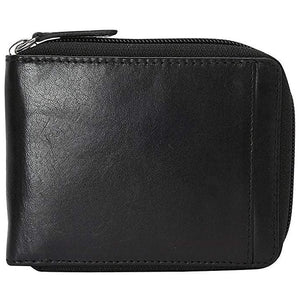 Mancini Leather Men'S Zippered Wallet With Removable Passcase
