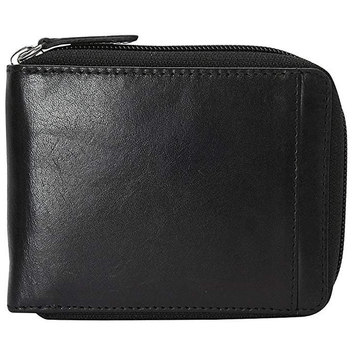 Mancini Leather Men'S Zippered Wallet With Removable Passcase - Luggage City
