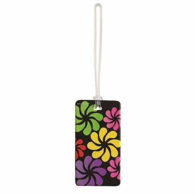 Lewis N Clark Black Floral Fashion Luggage Tag