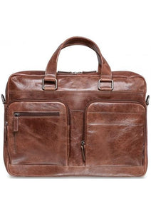 Mancini Double Compartment 15.6'' Laptop / Tablet Briefcase - Luggage City