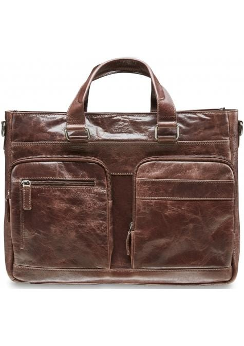 Mancini Single Compartment 15.6'' Laptop / Tablet Tote - Luggage City