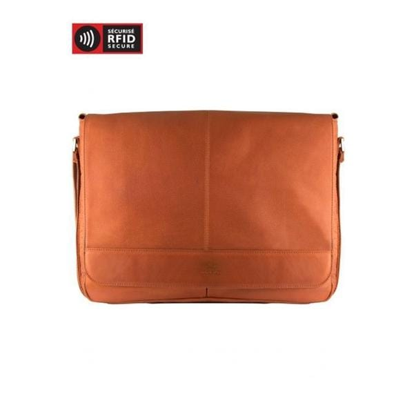 Mancini Leather Laptop And Tablet Messenger Bag - Luggage City