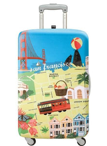 27in-30in Luggage Cover - San Francisco