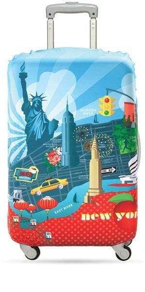 Accessories 23In-26In Luggage Cover - New York - Luggage CityLOQI