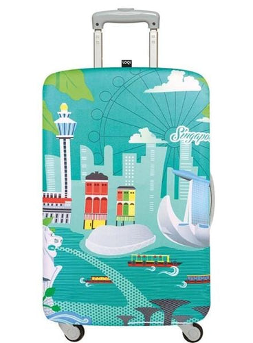 23in-26in Luggage Cover - Singapore