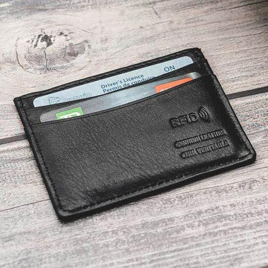 Leather RFID Credit Card Holder - Luggage City