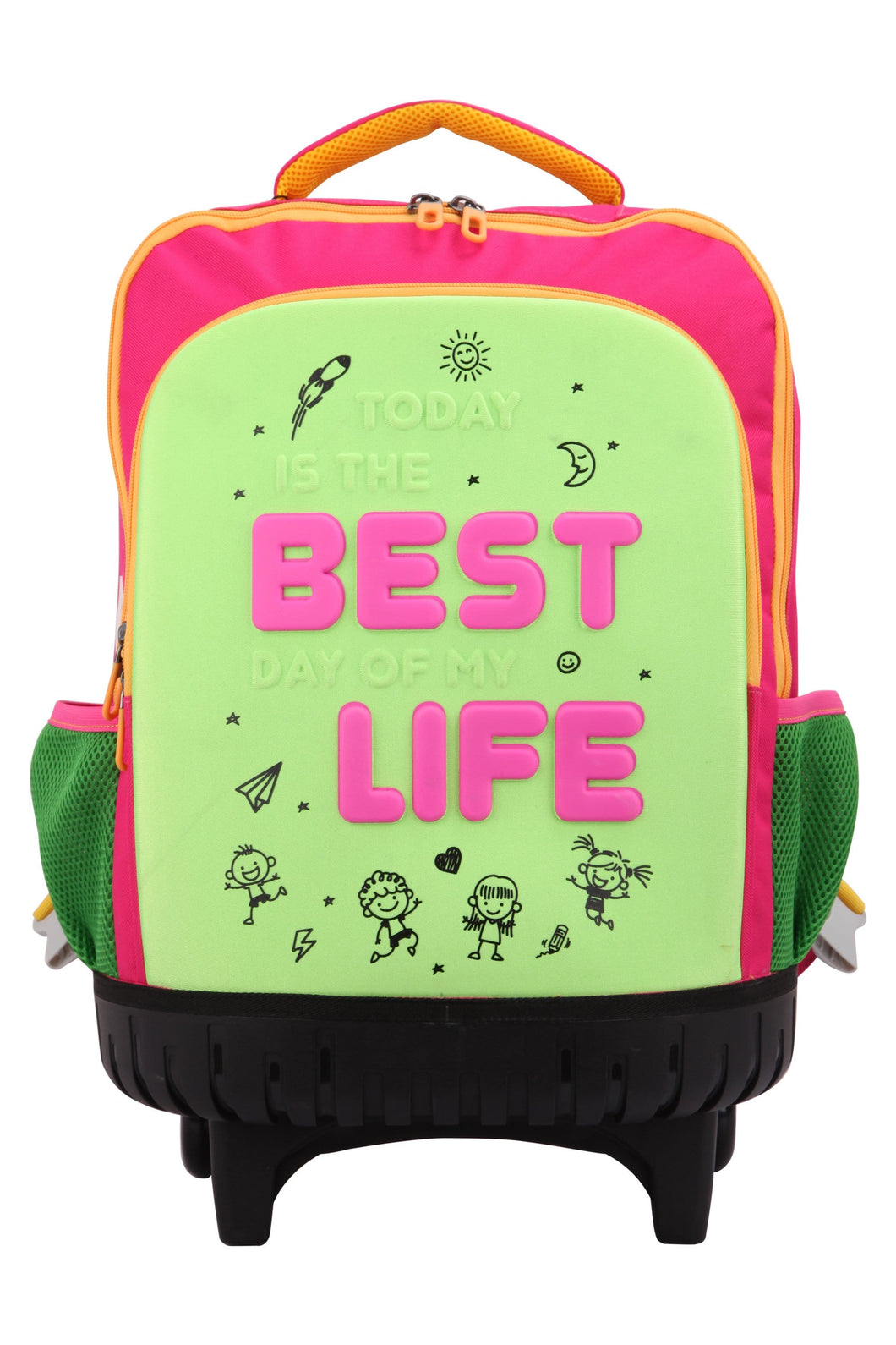 Bestlife Pop Wheeled Backpack - Pink - Luggage City