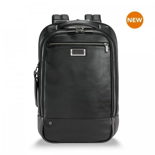 Briggs & Riley @Work Leather Medium Backpack - Luggage City