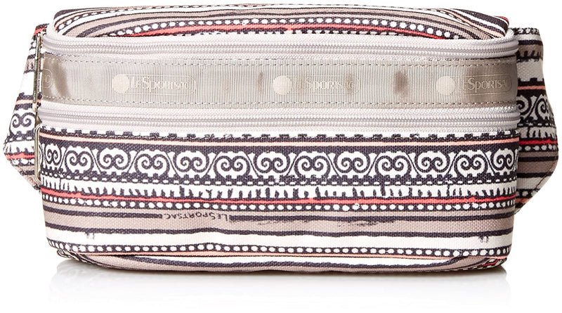 Brand > LeSportsac LeSportsac Double Zip Belt Bag - Luggage CityLeSportsac E191-Sea Stripe Tan