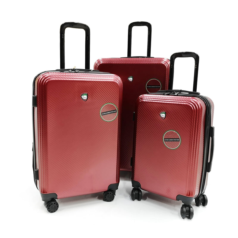 "Luggage > Hardside Luggage Mia Toro Messa 22"", 26"" and 30"" Spinner 3Pcs Set Italian Design - Luggage CityMia Toro Burgundy"