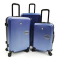 "Luggage > Hardside Luggage Mia Toro Messa 22"", 26"" and 30"" Spinner 3Pcs Set Italian Design - Luggage CityMia Toro Blue"