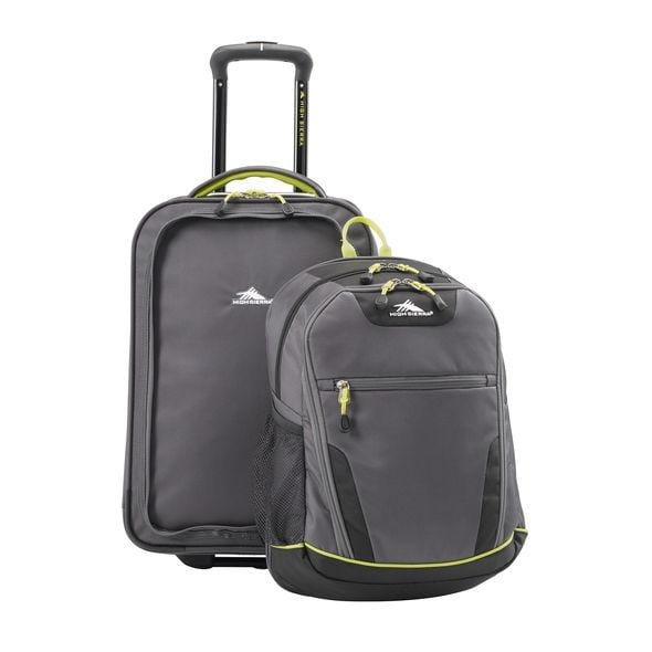 High Sierra Break-Out Carry-On Wheeled Duffle Upright W/ Removable Daypack - Luggage CityHigh Sierra