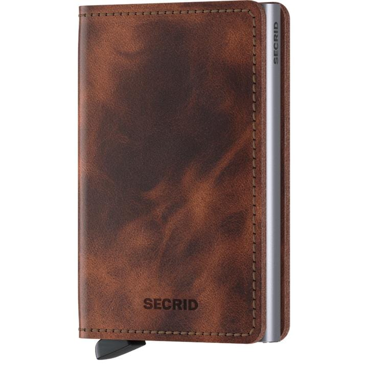 Accessories Secrid Rfid Slimwallet Vintage - Luggage CitySecrid Brown