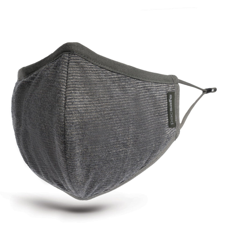 Accessories Pacsafe Protective & Reusable Silver iON Face Mask - Luggage CityPacsafe