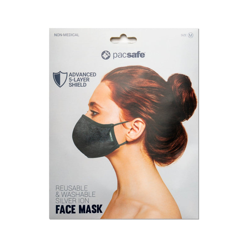 Accessories Pacsafe Protective & Reusable Silver iON Face Mask - Luggage CityPacsafe Medium