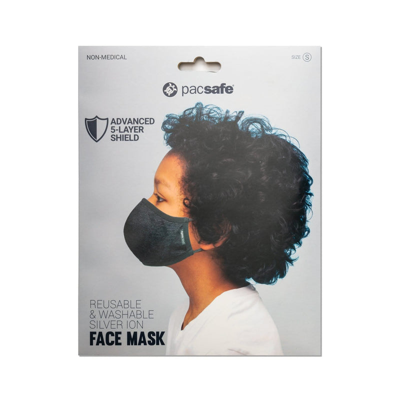 Accessories Pacsafe Protective & Reusable Silver iON Face Mask - Luggage CityPacsafe Small