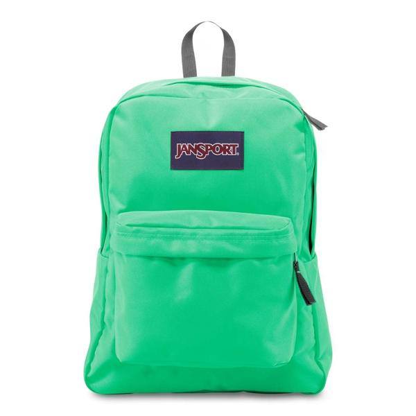 Jansport SuperBreak Backpack - 0D6-Seafoam Green