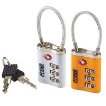 Lewis N.Clark Cable Lock With Keys - Luggage City