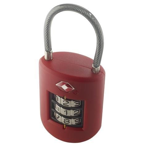 Lewis N Clark Large Dial Cable Lock - Luggage City
