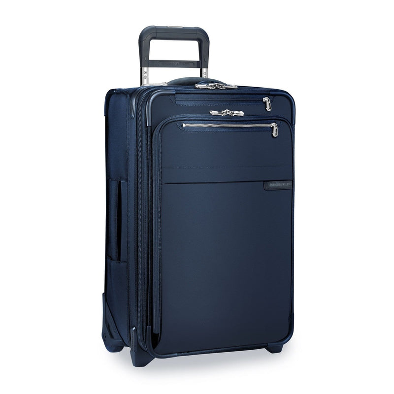 Luggage > Softside Luggage Briggs & Riley Baseline Domestic Carry-On Expandable Upright - Luggage CityBriggs & Riley Navy