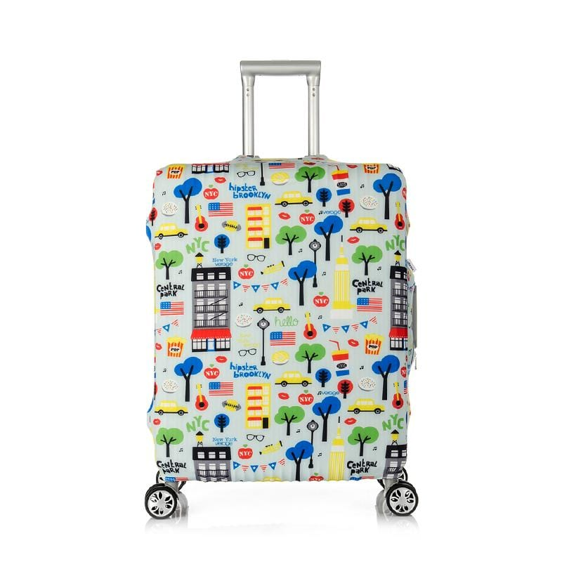 Accessories Verage 28In-30In Luggage Cover - Busy Street - Luggage CityVerage