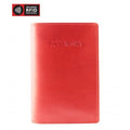 Brand Mancini Leather Rfid Secure Passport Wallet - Luggage CityMancini Red