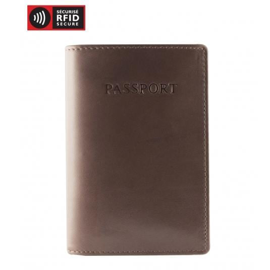 Brand Mancini Leather Rfid Secure Passport Wallet - Luggage CityMancini Cognac