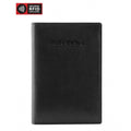 Brand Mancini Leather Rfid Secure Passport Wallet - Luggage CityMancini Black