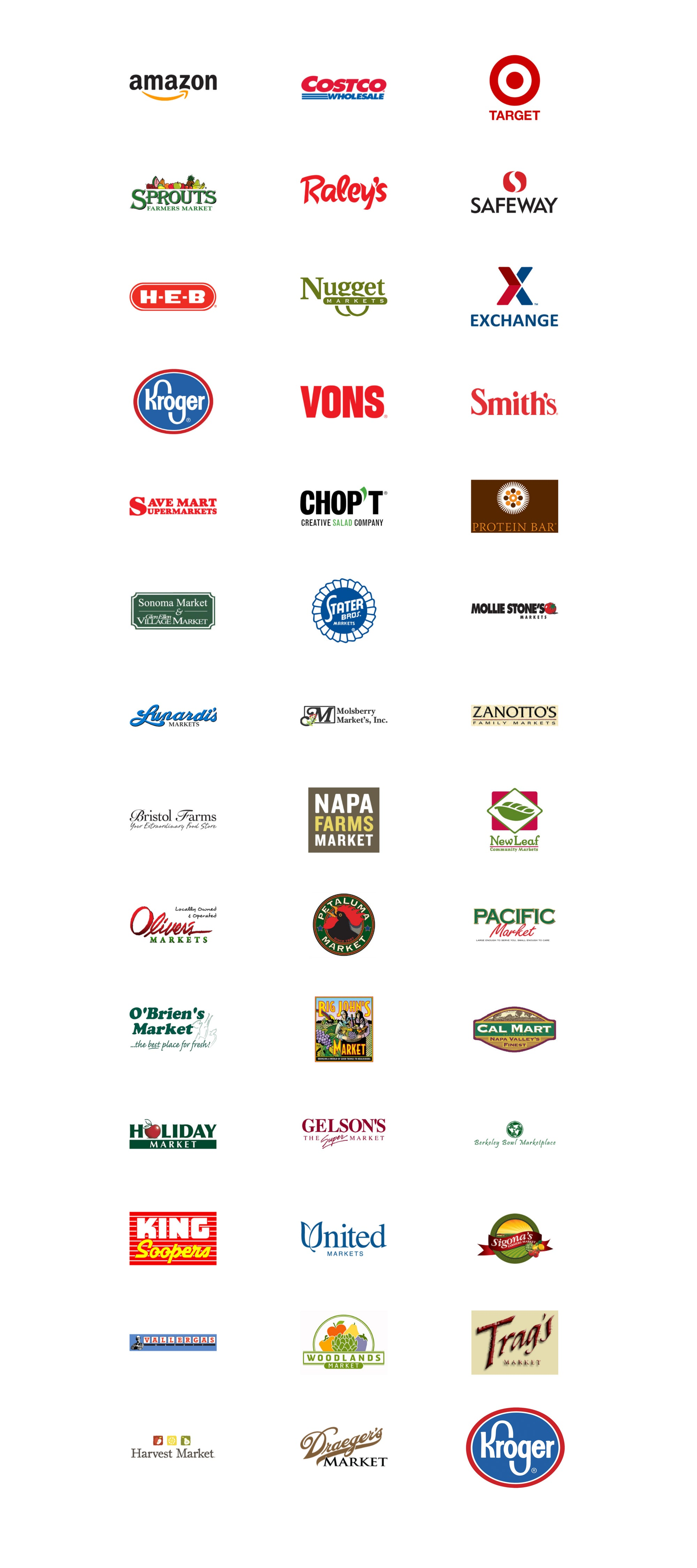 Sonoma Creamery products are carried at the following retailers
