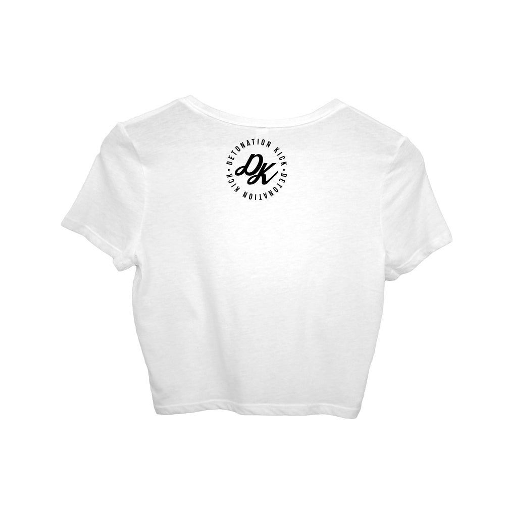 Womens Detonation Kick Prime Crop Tshirt White