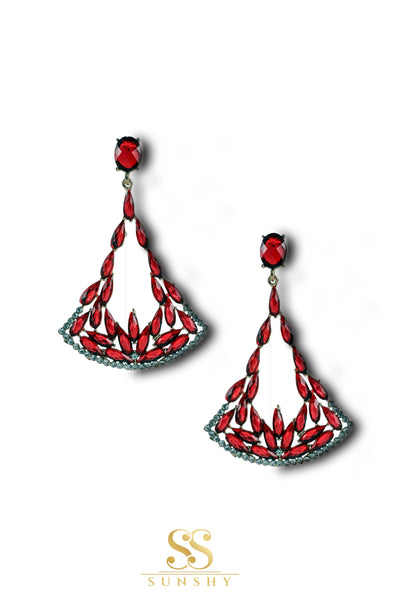 Izabela Egyptian Stone Studded Earrings