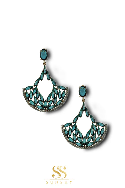 Izabela Turquoise Stone Studded Earrings