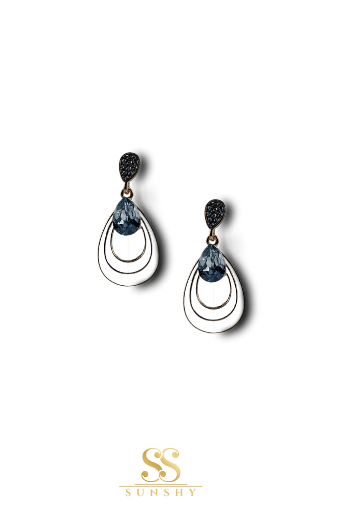 Sculpted Vintage Stone Drop Earrings