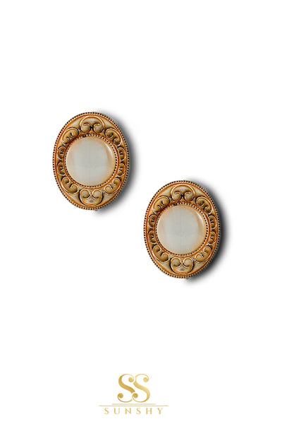 Sculpted Vintage Stud Earrings