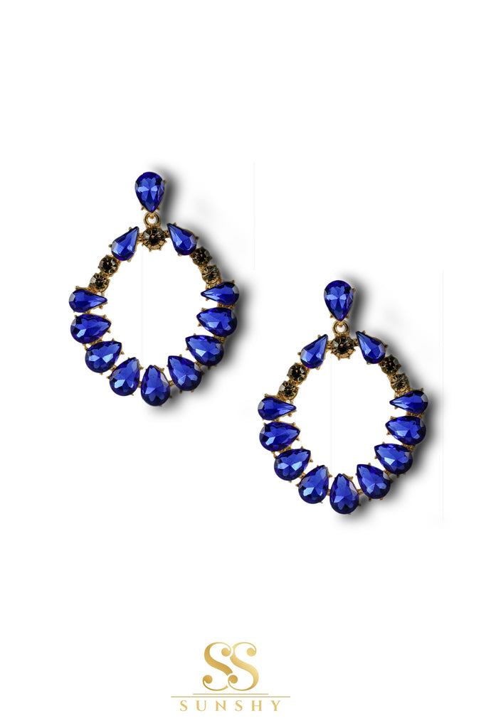 Georgianna Blue Stone Studded Earrings
