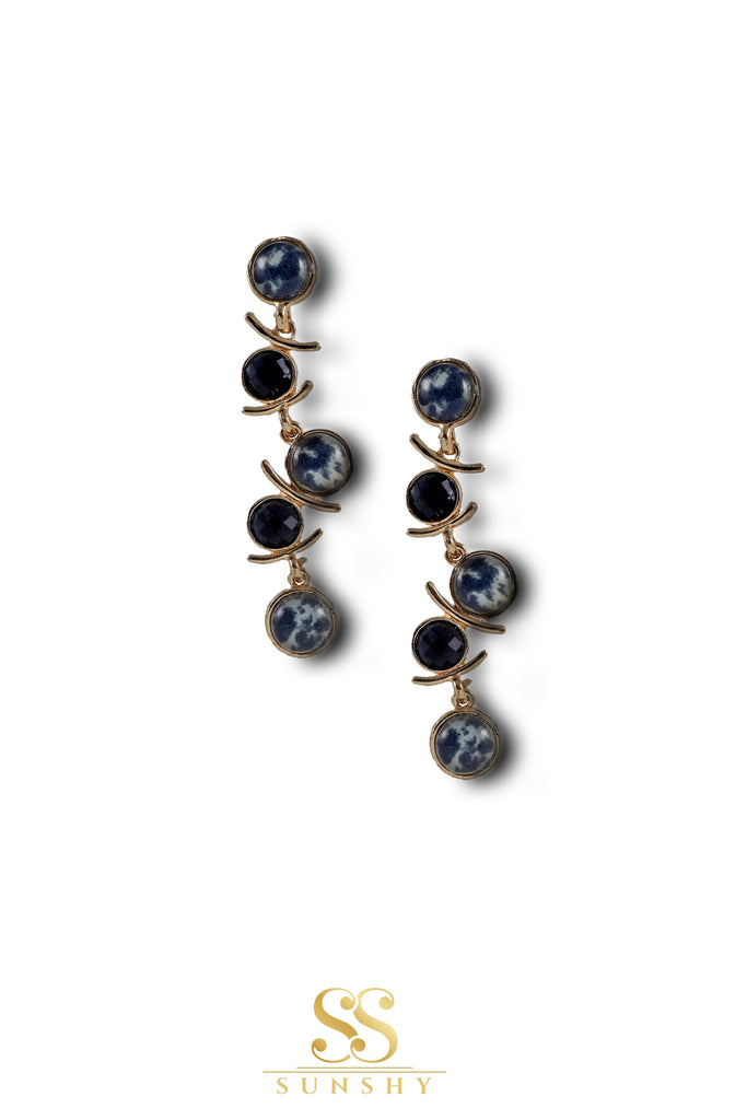 Zandra Wild Stone Drop Earrings