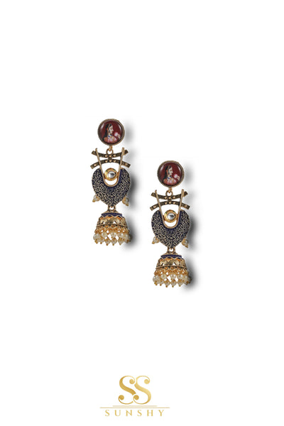 Amaya Vintage Designed Antique Long Earrings