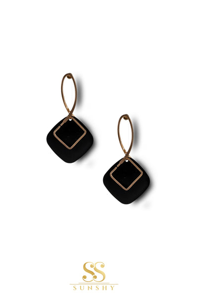 Samara Black Metal Stud Earrings