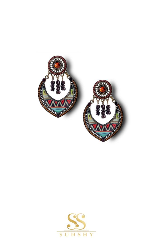 Aaraa Boho Beaded Drop Earrings