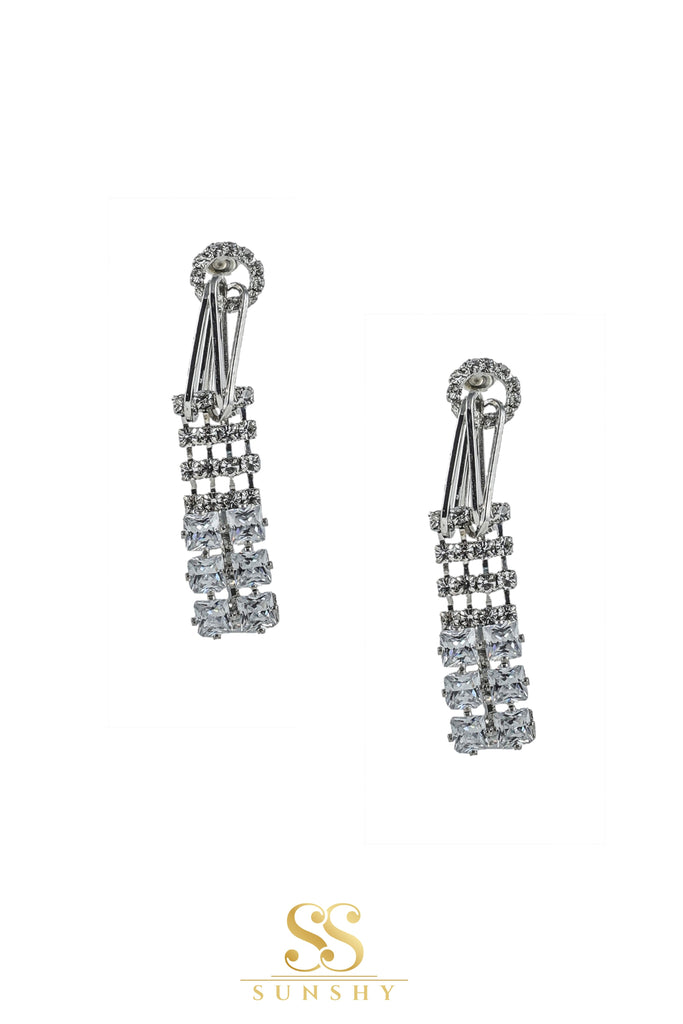 Stone Studded Dropdown Earrings