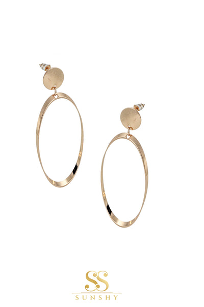 Oval Hoops Earrings