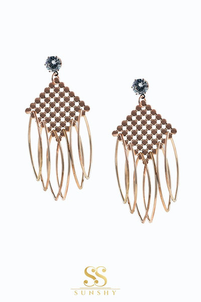Claudiella Strings American Diamond Studded Earrings