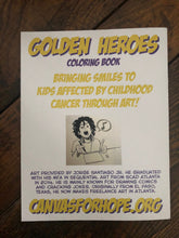 Load image into Gallery viewer, Golden Heroes Coloring Book