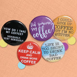 COFFEE mini badge set