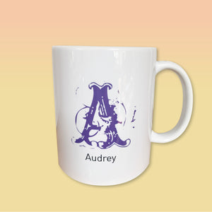 CUSTOM mug—Large letter & name