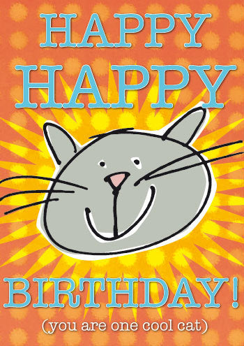 Birthday Cat! greeting card