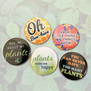 All the Plants mini badge set