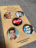 ELVIS PRESLEY mini badge set
