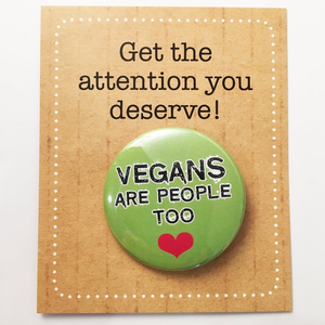 VEGANS are people