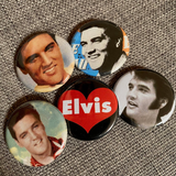 ELVIS PRESLEY badge set